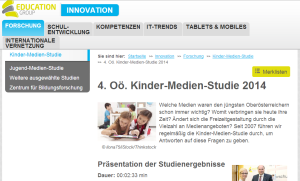 Education Group 4. OÖ Kinder-Medien-Studie 2014